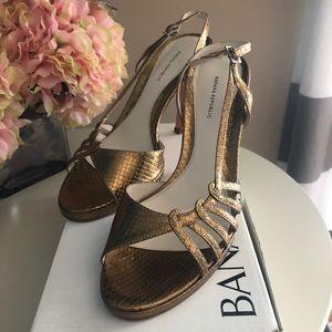Banana republic Gold cut out heel